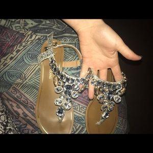 Island Escape Shoes - Island genuine crystal sandals